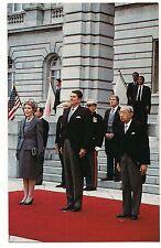 RONALD & Nancy REAGAN Emperor Hirohito Tokyo Japan  POSTCARD 1983 Politics