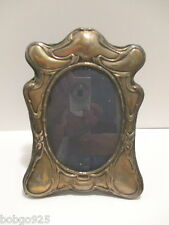 Picture Frame Antique Sterling Silver Flower Scroll Design 8 in x 5 7/8 in JJ