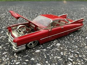 1959 CADILLAC COUPE DeVILLE Red 1/24 JADA DUB CITY