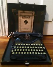 1929 Antique Corona 4 Gold Typewriter Funeral Home Medical Pharmacy  W/Receipt