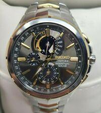 Seiko Coutura Perpetual Solar Chrono Two Tone Stainless Steel Men's Watch $495