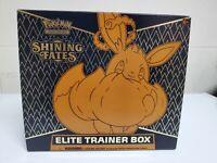 Empty Pokémon TCG: Shining Fates Elite Trainer Box !No Packs! with Eevee promo