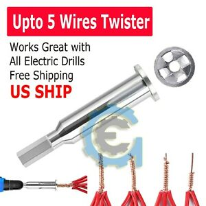 Universal Electrical Cable Twist Quick Connector Drill Bit Wire Stripper Tool