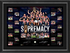 Sydney Roosters 2018 NRL Premiers Dual Signed Lithograph Framed OFFICIAL NRL