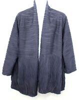MAKING IT BIG MIB Women's Plus 4x Kimono Duster Cardigan Lagenlook Navy Blue NWT