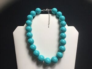 Women's Chunky Turquoise Bead Choker Necklace