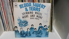 """BLOOD SWEAT & TEARS """"SPINNING WHEEL-MORE AND MORE"""" 7"""" CBS Italy 1969"""