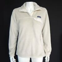 Patagonia Womens Re-Tool Snap-T Fleece Pullover Jacket Ivory Taupe Medium / 817