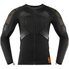 ICON PROTECTIVE SHIRT COMPRESS CHEST BACK SHOULDER ELBOW TIGHT FIT TRACK RACE