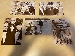Five Postcard: The Three Stooges,  Sepia Vintage 1980's Ludlow Sales