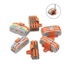 100Pcs Wire Connector Universal Compact Type Terminal Cable Block Accessories