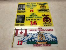 Lot of 3 1970's Shriner License Plates