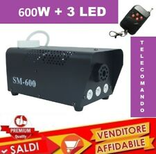 Macchina Fumo FOG Telecomando Effetti Luce 600W Watt 3 LED NEBBIA DISCOTECA