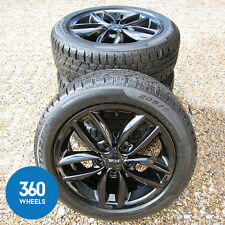 "NEW GENUINE MINI COUNTRYMAN PACEMAN 17"" BLACK 124 ALLOY WHEELS WINTER TYRES"