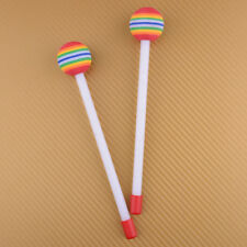 1Pair Lollipop Hand Drum Sticks Mallet Hammer for Kids Hand Percussion Beat Toy