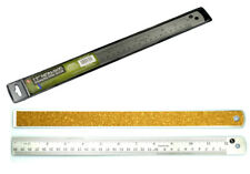 12 inch Non Skid Stainless Steel Ruler SAE & Metric Cork Backed Stained Glass