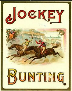 1880's  Horse Racing Jockey Bunting Advertising  Picture