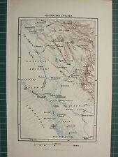 c1890 ANTIQUE MAP ~ ASSYRIA & CHALDEA ~ ZIGRIT BABYLON BAGDAD