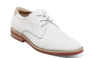 Florsheim Highland Plain Toe Oxford Dress Shoes White 14272-100