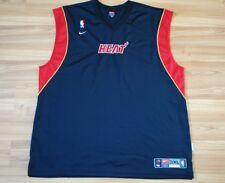 NBA MIAMI HEAT BASKETBALL SHIRT JERSEY SLEVELESS NIKE SIZE XXXL 3XL BLACK RARE