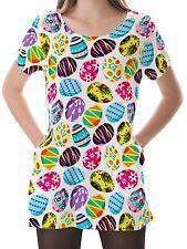 Easter Egg Women Scoop Neckline Pockets Top Shirt Blouse b16 acr00491