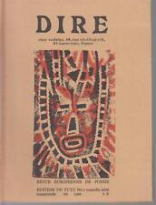DIRE - REVUE EUROPEENNE DE POESIE - N° 2 - nouvelle série trimestrielle été 1966