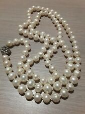 """Freshwater pearl necklace, hand knotted, 36"""" long. Excellent condition"""