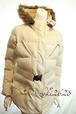 BNWT Ralph Lauren devota Belted Down Jacket Crème pufer Puffa Manteau Parka RRP £ 205