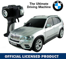 1:18 SILVER BMW X5 Electric RC Radio Remote Control Car Toy Official Licensed