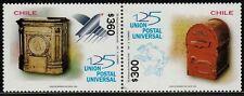 Chile 1999 Scott # 1302 - 1303 Old Mailboxes 125 years UPU  MNH