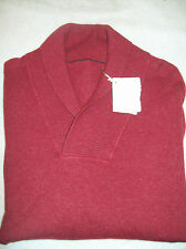 Brunello Cucinelli Cashmere Shawl Collar Sweater NWT XL Euro 58 / US 48 $1695