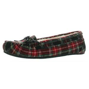 Minnetonka Womens Lodge Trapper Red Moccasin Slippers 8 Narrow (AA,N) BHFO 7144
