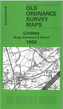 OLD ORDNANCE SURVEY MAP LINDSEY, BRIGG, SCUNTHORPE, BROUGHTON & DISTRICT 1906