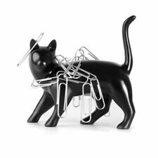 Thumbs Up! Pussy Magnet Black Cat Paper Clip Holder, New, Free Shipping