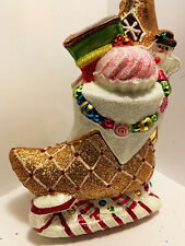 Christopher Radko Ornament Candy Boot Sleight 1019520. Great Details