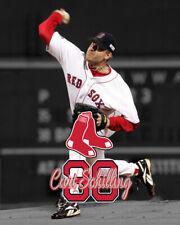 Boston Red Sox CURT SCHILLING Unsigned Spotlight Photo 8x10  3X WS Champ
