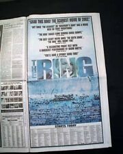 Best THE RING Horror Film Movie Opening Day AD Review 2002 Los Angeles Newspaper