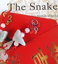 Serpiente Jade Chino Zodiaco Animal Colgante Red Envelope fiesta de cumpleaños de Año Nuevo