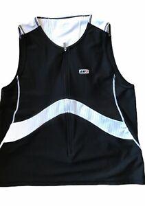 Women's Louis Garneau CYCLING Vest in Black/White Size XL