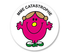 Pin Button Badge Ø25mm Madame Monsieur Mr Mme Mrs Catastrophe