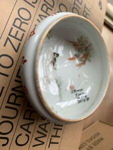 Antique Chinese Famille Rose Porcelain Water Pot Bowl 19C