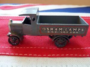 Matchbox Lesney #6 Osram Lamps A.E.C. truck 1916-1921