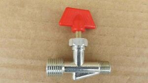 "1Pc 1/8""BSPT x 1/4""BSPT T Joint Pipe Gas Vent Needle Valve Air Compressor Parts"