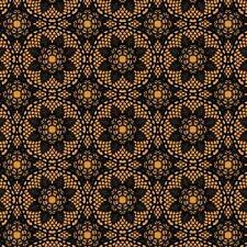 New listing Happy Halloween Creepy Crochet Black 100% Cotton Fabric by The Yard
