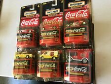Matchbox Coca Cola Collectibles 1998 moc, new, car truck 57 chevy 33 ford vette