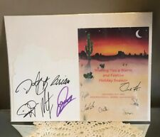 DIAMOND RIO AND INTERNATIONAL ARTIST MGT HAND SIGNED AUTOGRAPHED CHRISTMAS CARD