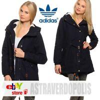 Adidas Originals BLACK WINTER C PARKA Coat Jacket Womens Rita Ora UK 8 S M30514