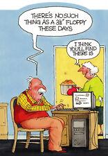 Lecteur de Disquette-Drôle Humour carte-B ~ Envoi Gratuit UK