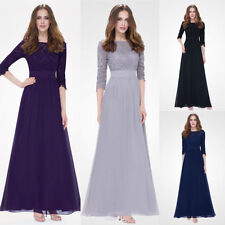 Mesh Ball Gown Ever-Pretty Solid Dresses for Women