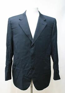 CANALI Men's Black Pure New Wool Single Breasted Suit Jacket Size IT52 UK42